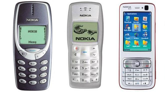 Nokia 3310, 1100. N73